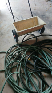 Free 2 garden hoses and spreader
