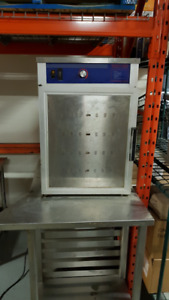 Used Electric Food Warmer & S.S. Table For Sale