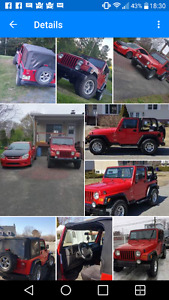 2001 Jeep TJ Sport Coupe convertible (2 door) A QUI LA CHANCE