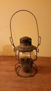 CNR Railway Lantern With Stamped Shade