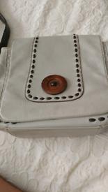 Grey and brown cross shoulder bag