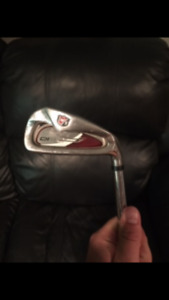 Men's Wilson Staff Di9 Irons 5-AW, Titleist SW and Bag $200 only