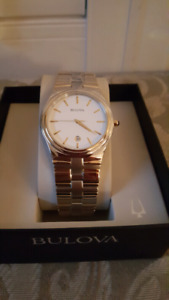 Bulova two tone watch