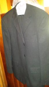 Black pin stripe suit 42R