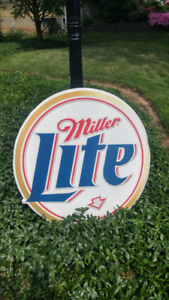 MILLER LITE BEER SIGN.