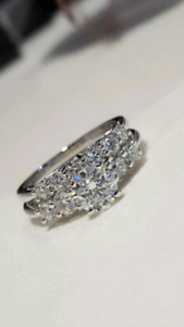 Lady's $10,350 - 14kt White Gold Diamond Engagement Ring Set!