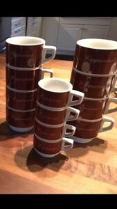 Cappuccino and espresso mugs Cambridge Kitchener Area image 1