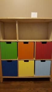 Kids storage toy/book/storage shelf