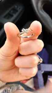 10kt white gold with diamonds