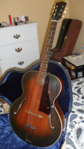 Vintage Gibson Archtop Guitar new bone nut & strings