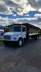 """""""Check This One Out"""" Freightliner FL80 """"Flat Bed"""" Rebuilt Engine"""