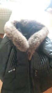 Manteau SNO-stockholm XL--vraie fourrure