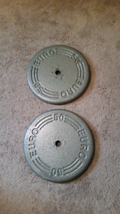 2 50lb weights