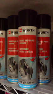 Wurth brake and parts cleaner.