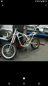 Dirt bike frame rolling