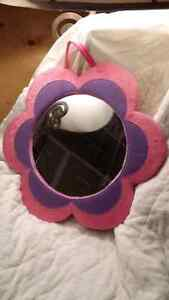 Cute flower  mirror pink and purple Cambridge Kitchener Area image 1