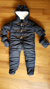 Navy blue Childrens Place baby snowsuit