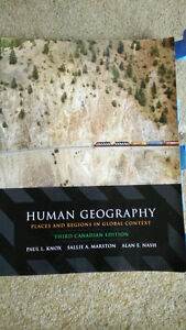 Human Geography: 3rd Edition Kitchener / Waterloo Kitchener Area image 1