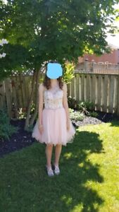 Grad Dress May Queen Couture Size 4 with matching heels