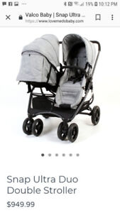 Valco twin double stroller