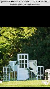 Antique wedding ceremony backdrop London Ontario image 1