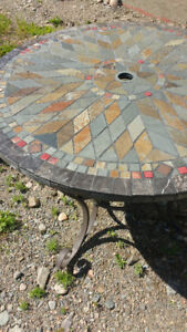 $400 stone inlay dining table Pier 1 Brand New