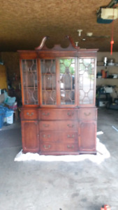 Beautiful antique cabinet and secretary desk
