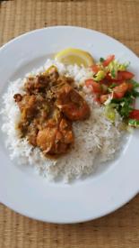 Chicken tikka Indian bhuna.