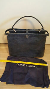 new Dooney and Brooks large Blue croco Tote