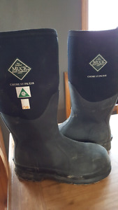 Steel toed muck boots