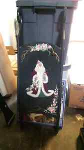 Hand painted decorative sleigh (Santa): $40 obo