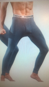 New, INIBUD Men Thermal Underwear Lightweight Long Johns, Size M