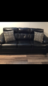Black Leather pull out bed- Brand new-bed never used