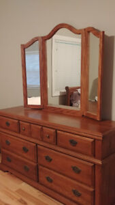 Moving Sale! Quality large Bustin Furniture dresser with mirror