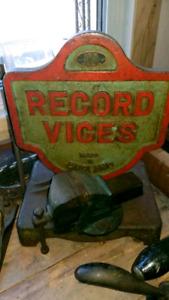 VICES VISE USA ENGLAND PARKER  RECORD RIDGID  PALMGREN RAE WODEN