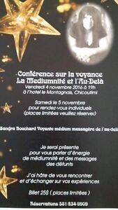 Conference le 4 novembre et seance individuel le 5 novembre Saguenay Saguenay-Lac-Saint-Jean image 1