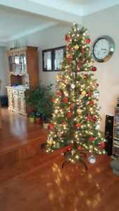 Christmas tree 7' Colorado spruce with LED lights
