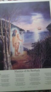 """Print """"Manitou of the Beothuk"""" Laminated On Board"""