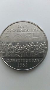 1982 Canadian Confederation Constitution Dollar Kitchener / Waterloo Kitchener Area image 1