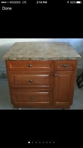 Large Solid Maple Kitchen Island