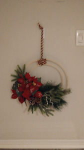 wreath Christmas decoration poinsettia