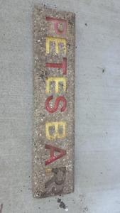 Concrete Sign