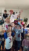 Magicien fête enfant+oiseaux,cochons d'inde poule,hérisson,lapin