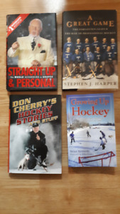 HOCKEY BOOKS, DON CHERRY ETC, LOT OF 4 BOOKS