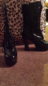 Black boots  . sz 9. Great for Halloween costumes.
