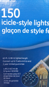 Icicle Style lights brand new in the boxes.