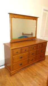 Large Solid Maple Double Dresser