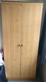 2x pine wardrobes