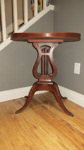 Lyre Mahogany Occasional Table