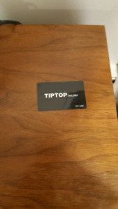 $100.00 Tip Top Tailor Gift Card
